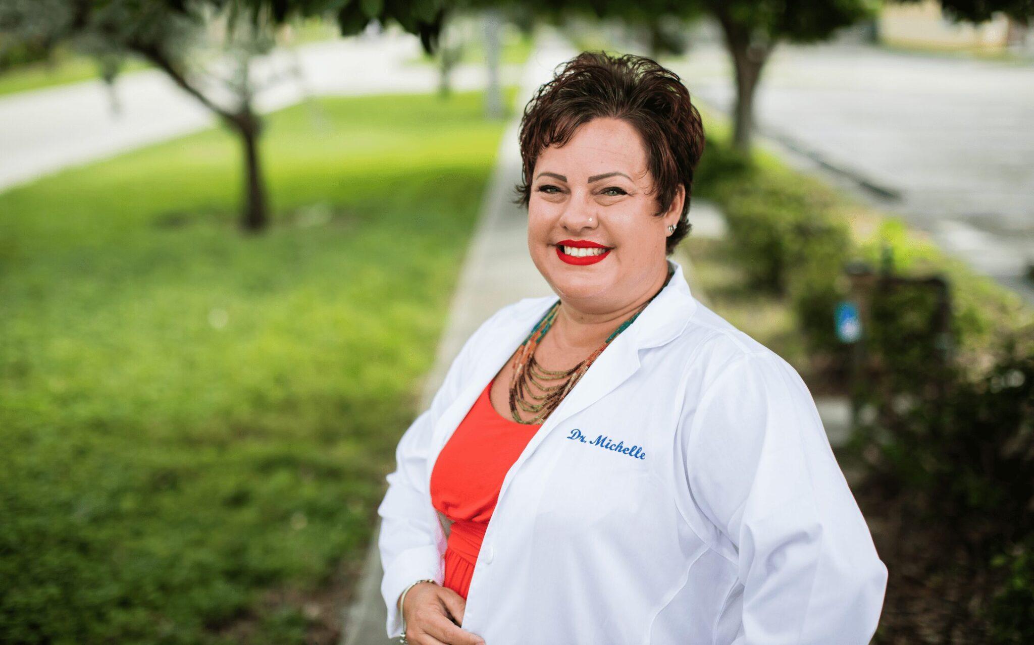 Dr. Michelle smiling