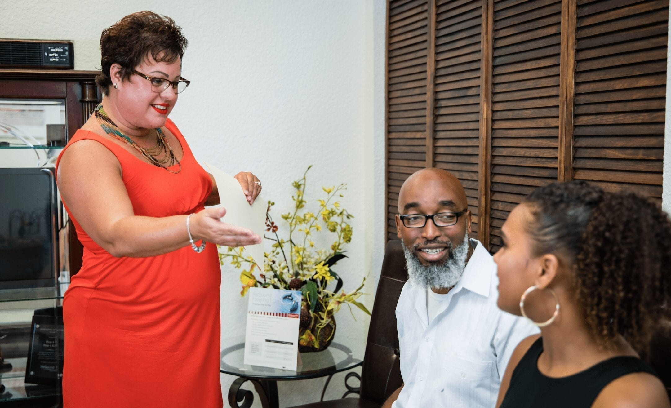 Dr Michelle with patients